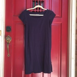 Eileen Fisher PS soft cap sleeve dress Navy